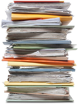 A stack of file folders. Similar photographs from my portfolio: