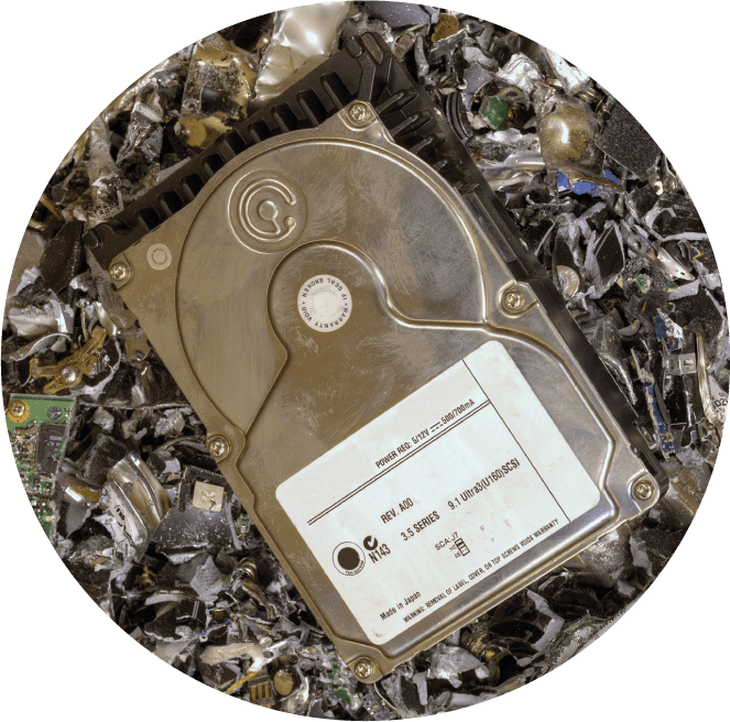 Hard drive shredding and recycling of IT assets